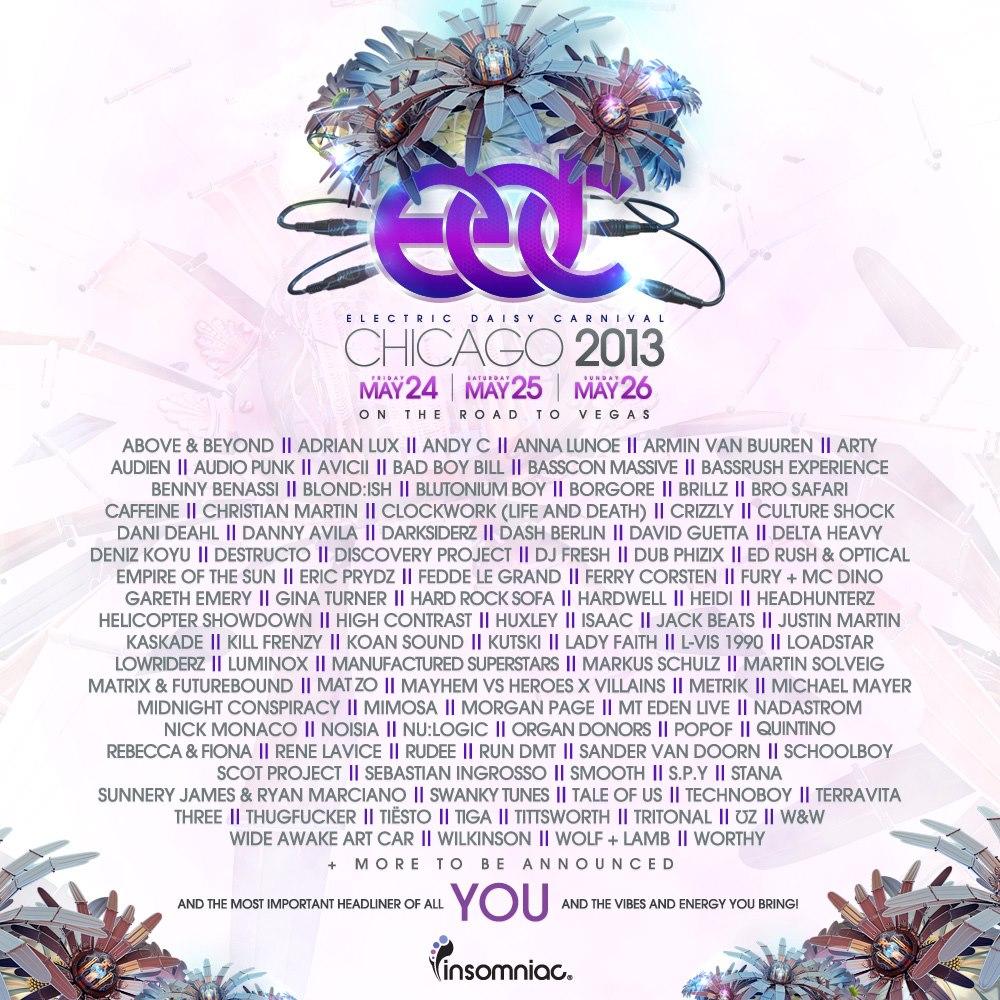 EDC Chicago 2013 Lineup