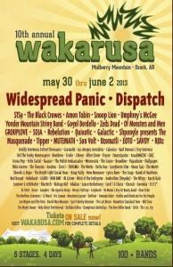 Wakarusa 2013 Lineup